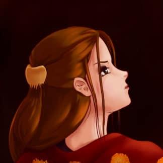 Looking Back anime illustration