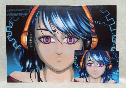CyberBlue - Poster vs Postcard