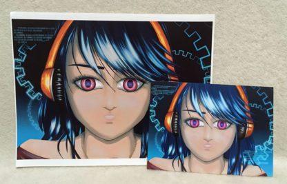 CyberBlue - Print vs Postcard