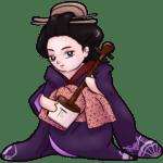 Chibi Natsuki with Shamisen