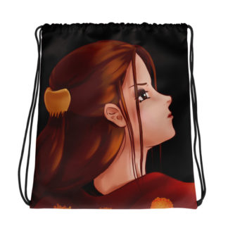 Looking Back Drawstring bag
