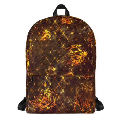 Diamond Rose Backpack - Maroon Gold