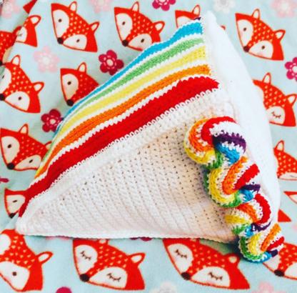 Crochet Cake Slice Pillows - Too Much to Chew Rainbow