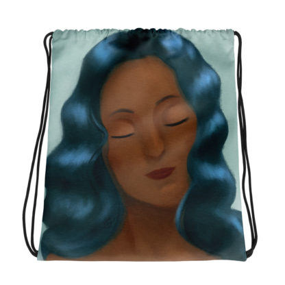 Calm Drawstring bag