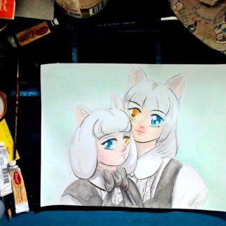 Cat Sisters Desk